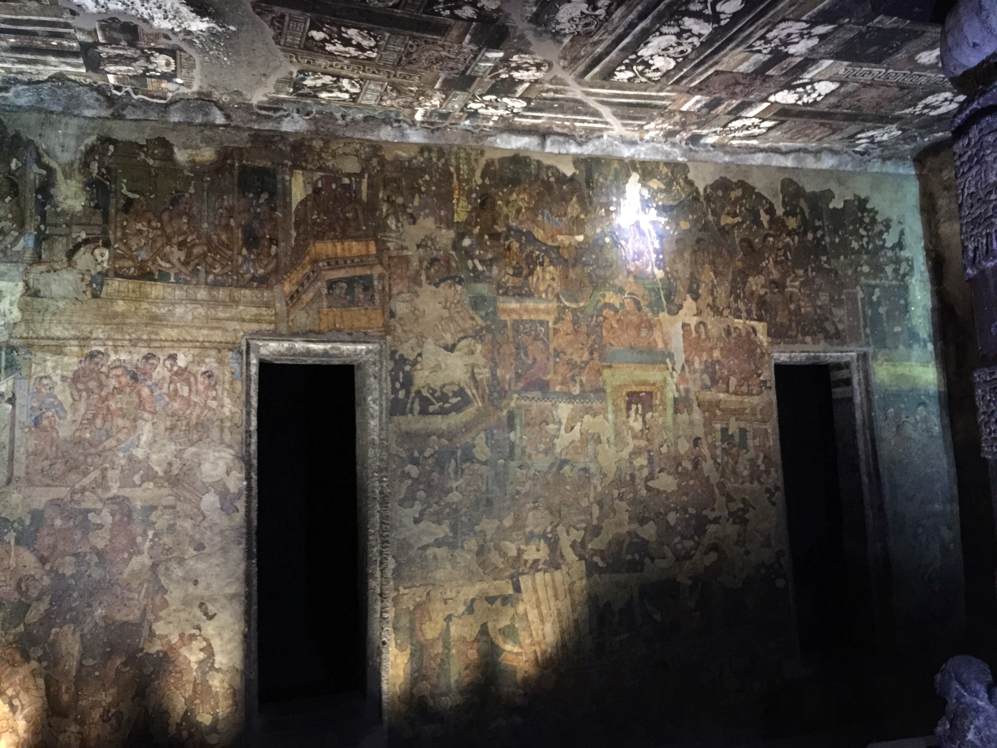 Paintings inside a cave