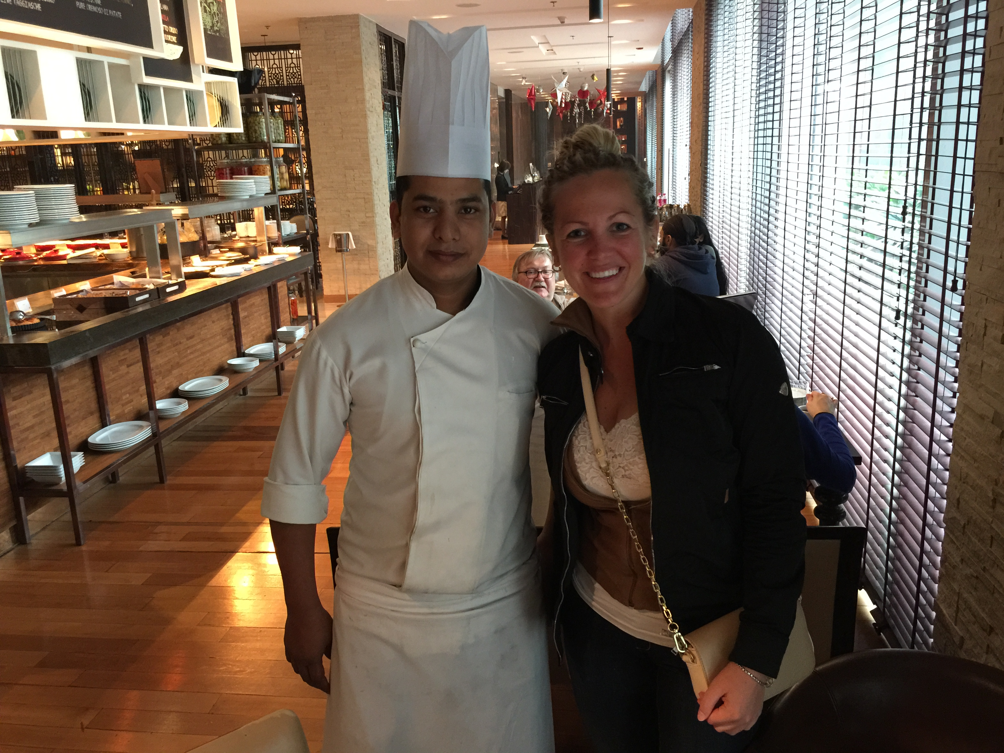 Katie Lu with Chef