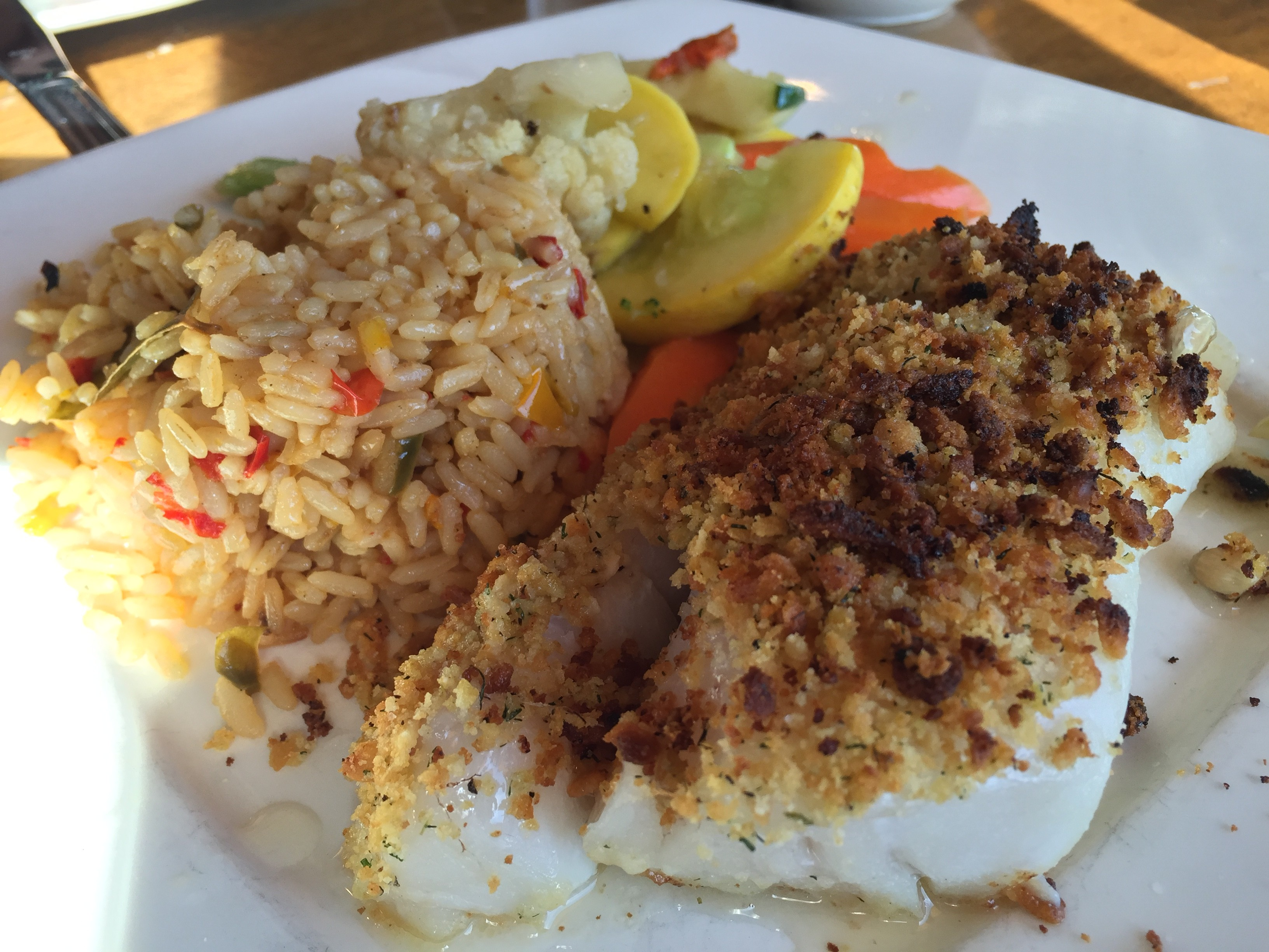 Haddock, Rice, Veggies...it was just OK.